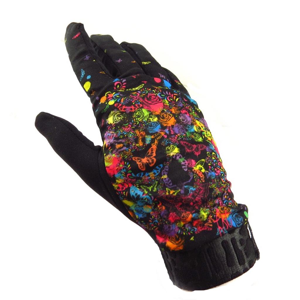 Gants créateur \'Life\' noir multicolore - [K5750]