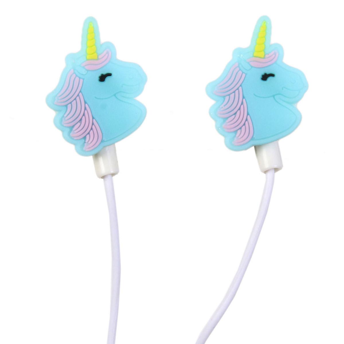 Ecouteurs \'Licorne My Unicorn\' bleu - 25x15 mm - [R2418]