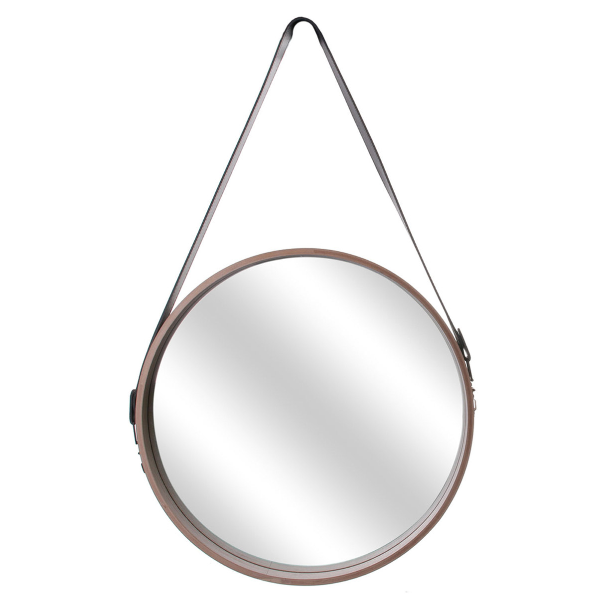 Miroir bois \'Boho\' beige - 40 cm - [R2425]