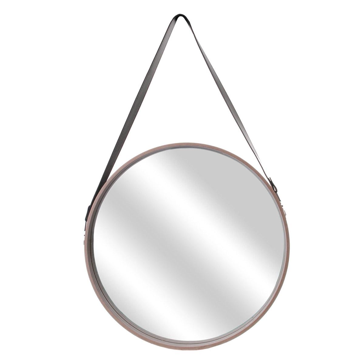 Miroir bois \'Boho\' beige - 50 cm - [R2426]