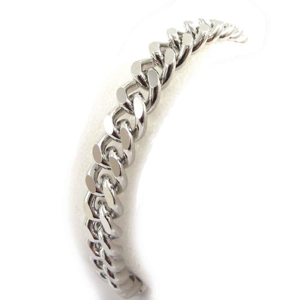 Bracelet \'Maille Gourmette\' Argenté  - [J7052]