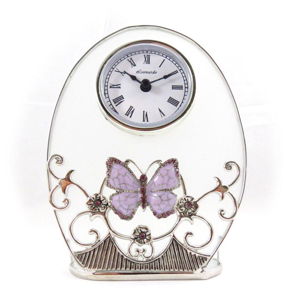 Horloge \'Papillon de Soie\' violet - [J7072]