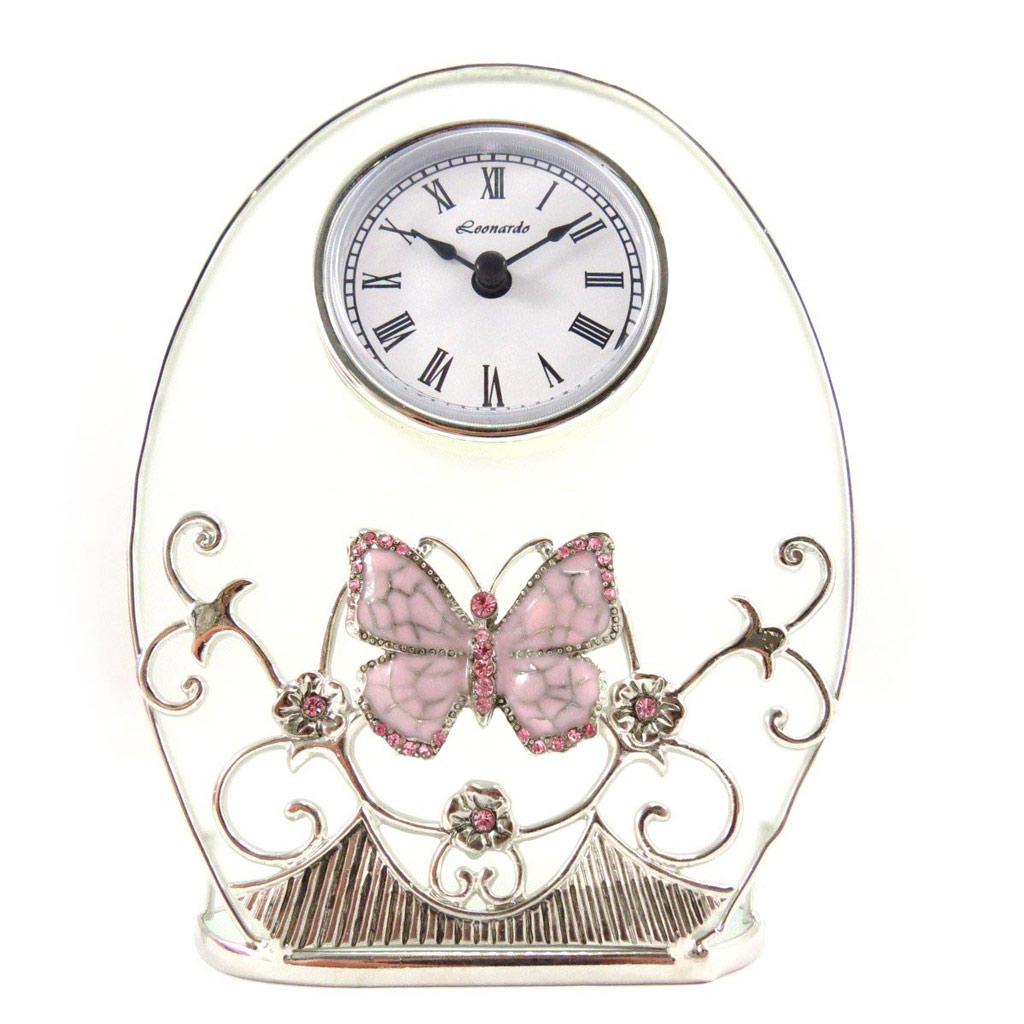 Horloge \'Papillon de Soie\' rose - [J7073]