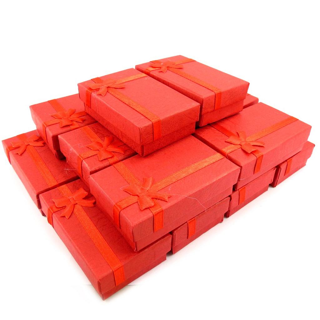 16 écrins pendentif \'Glamour\' rouge - [K5834]