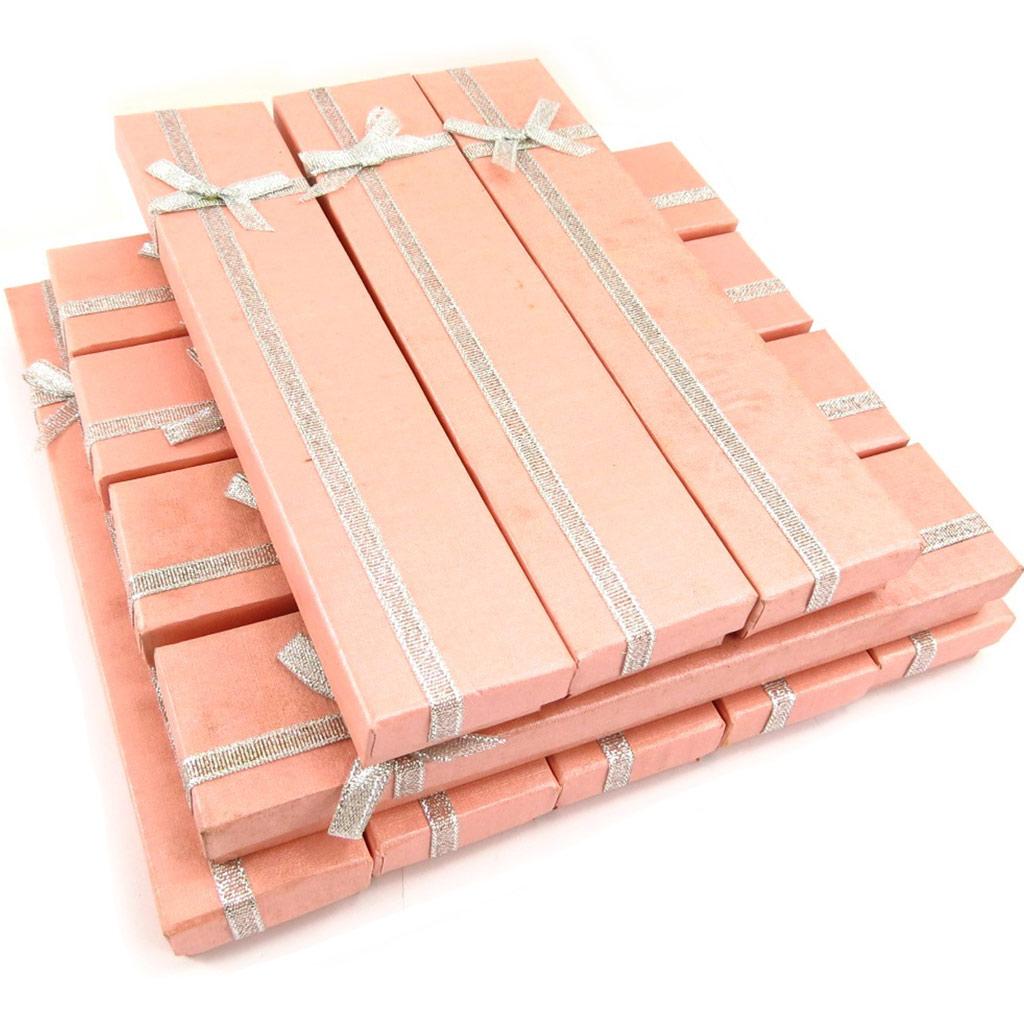 12 écrins bracelet \'Glamour\' rose saumon - [K5841]