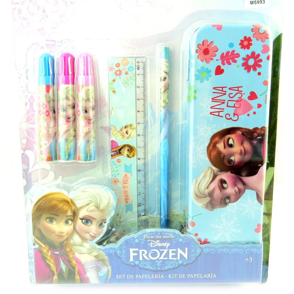 Set papeterie \'Frozen - Reine des Neiges\' bleu (6 pièces) - [M5993]