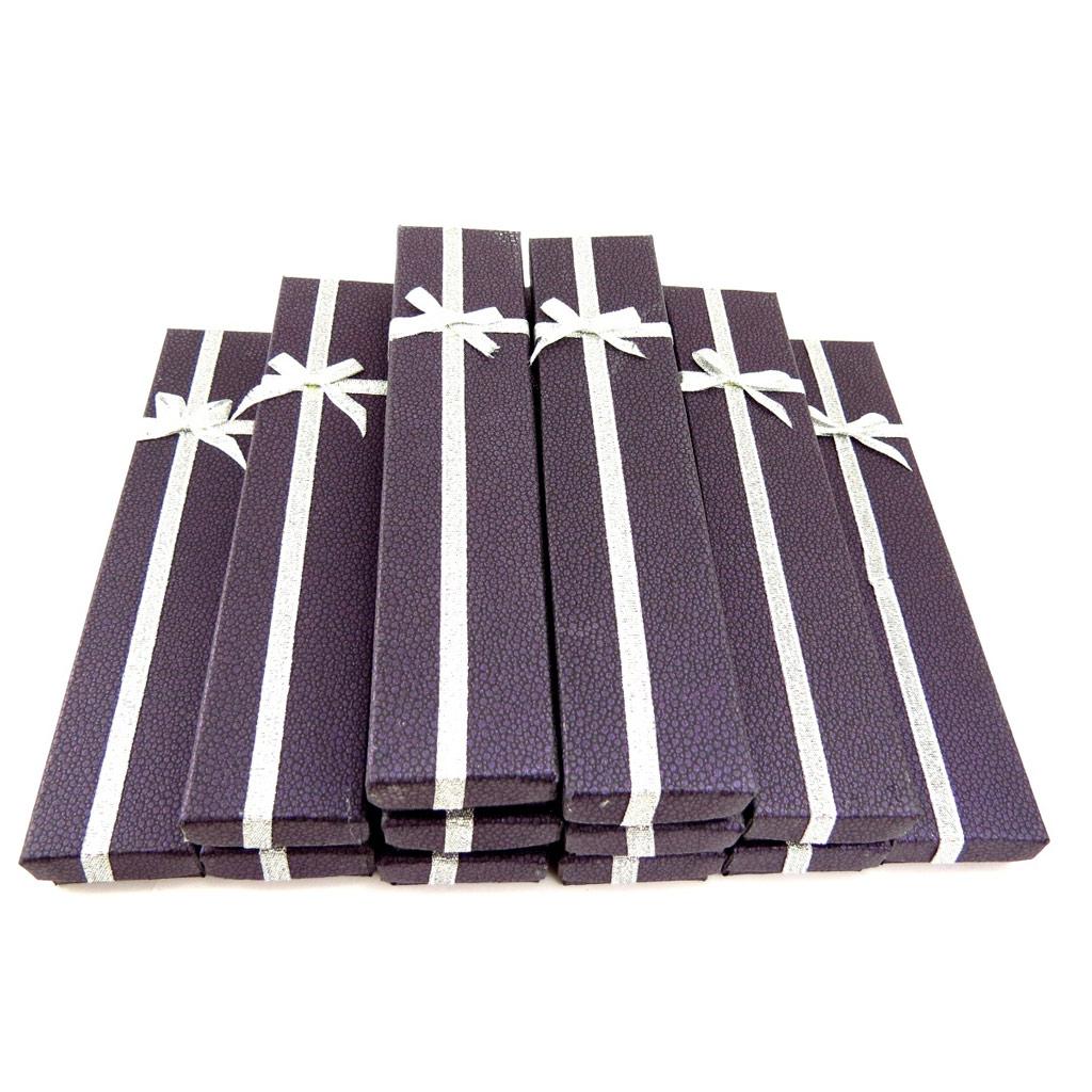12 écrins bracelet \'Glamour\' violet - [K5848]
