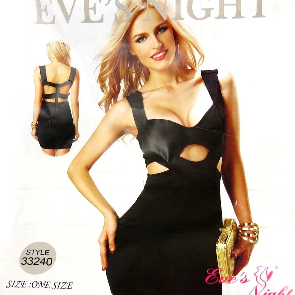 Robe sexy \'Scarlett\' noir (S) - [M6018]