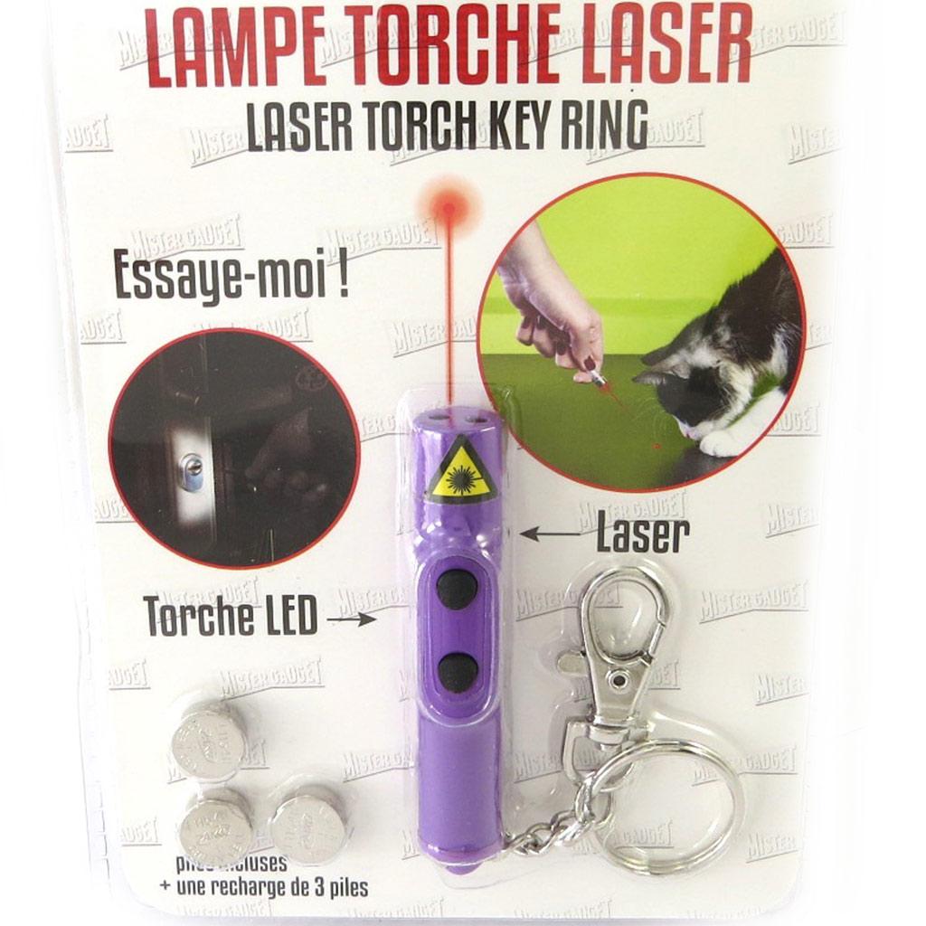 Porte-Clé \'Lampe Torche Laser\' violet - [M6110]