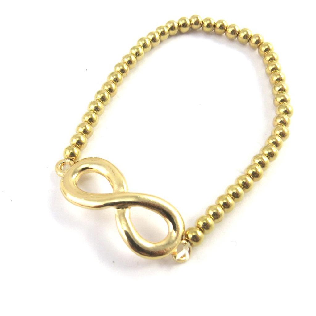 Bracelet élastique \'Infini\' doré - [M6171]