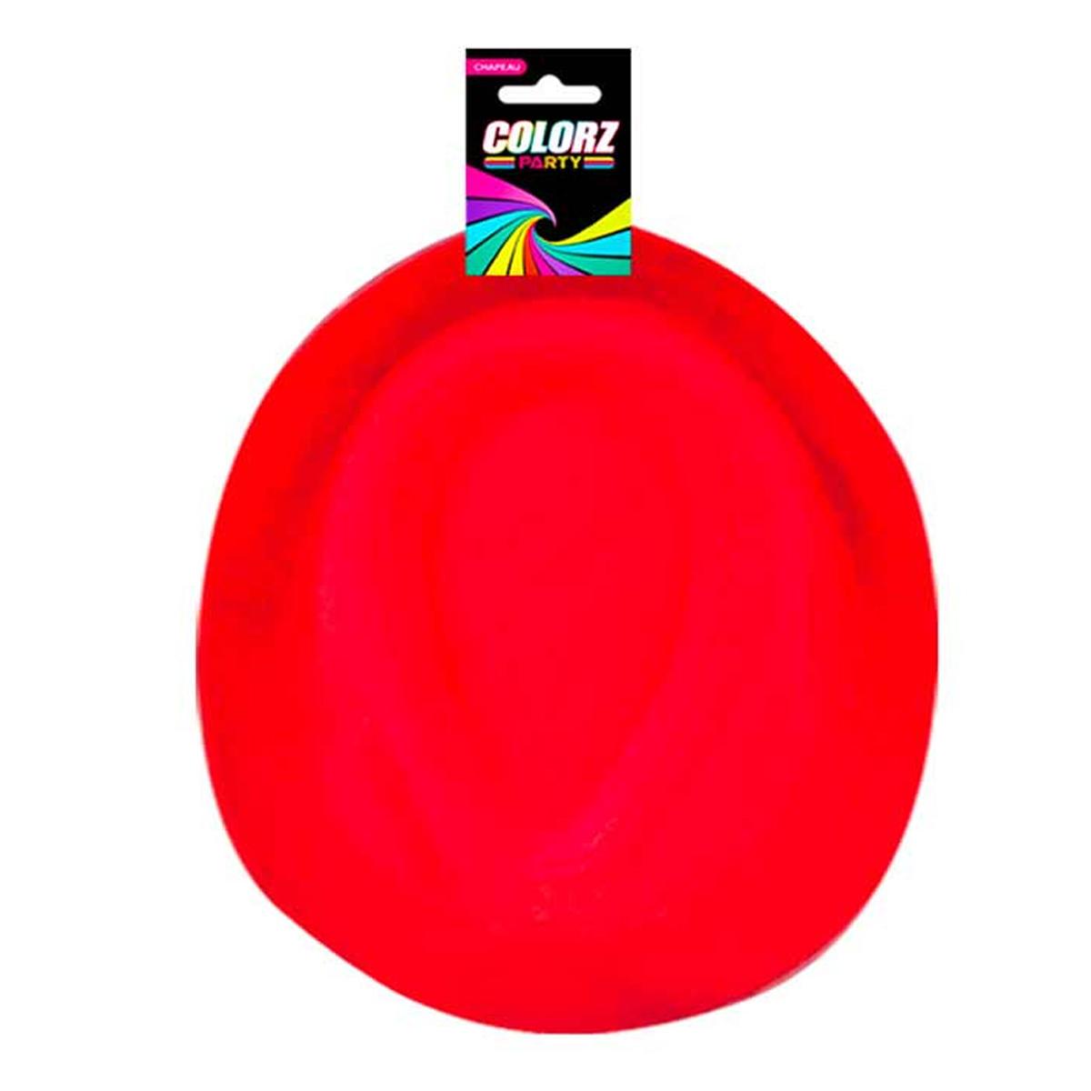Chapeau Borsalino \'Coloriage\' rouge - taille unique - [R2619]