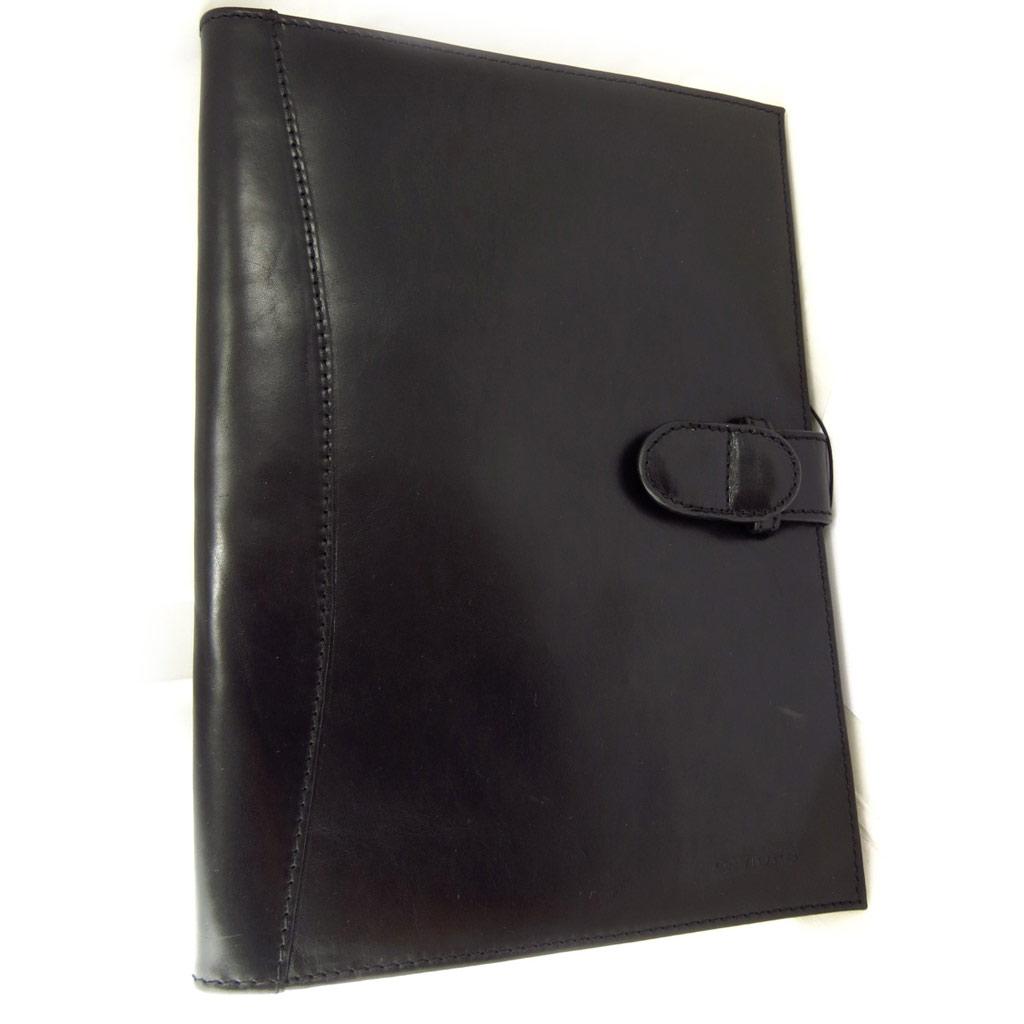 Conférencier cuir \'Lafayette\' noir  - [K6165]