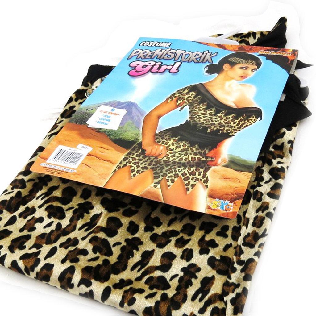 Déguisement de \'Femme Préhistoire\' marron léopard - [I9577]