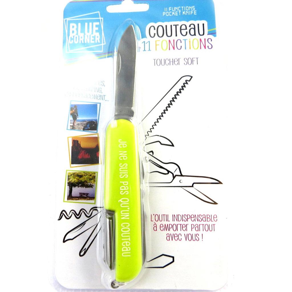 Couteau multifonctions \'Coloriage\' vert - 11 fonctions - [M6308]