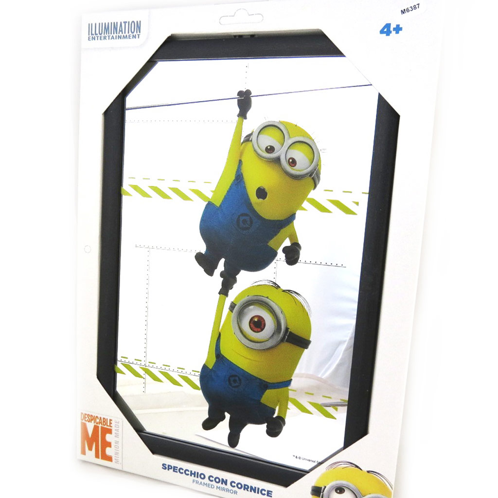 Miroir \'Minions\' jaune bleu (32x22 cm) - [M6387]