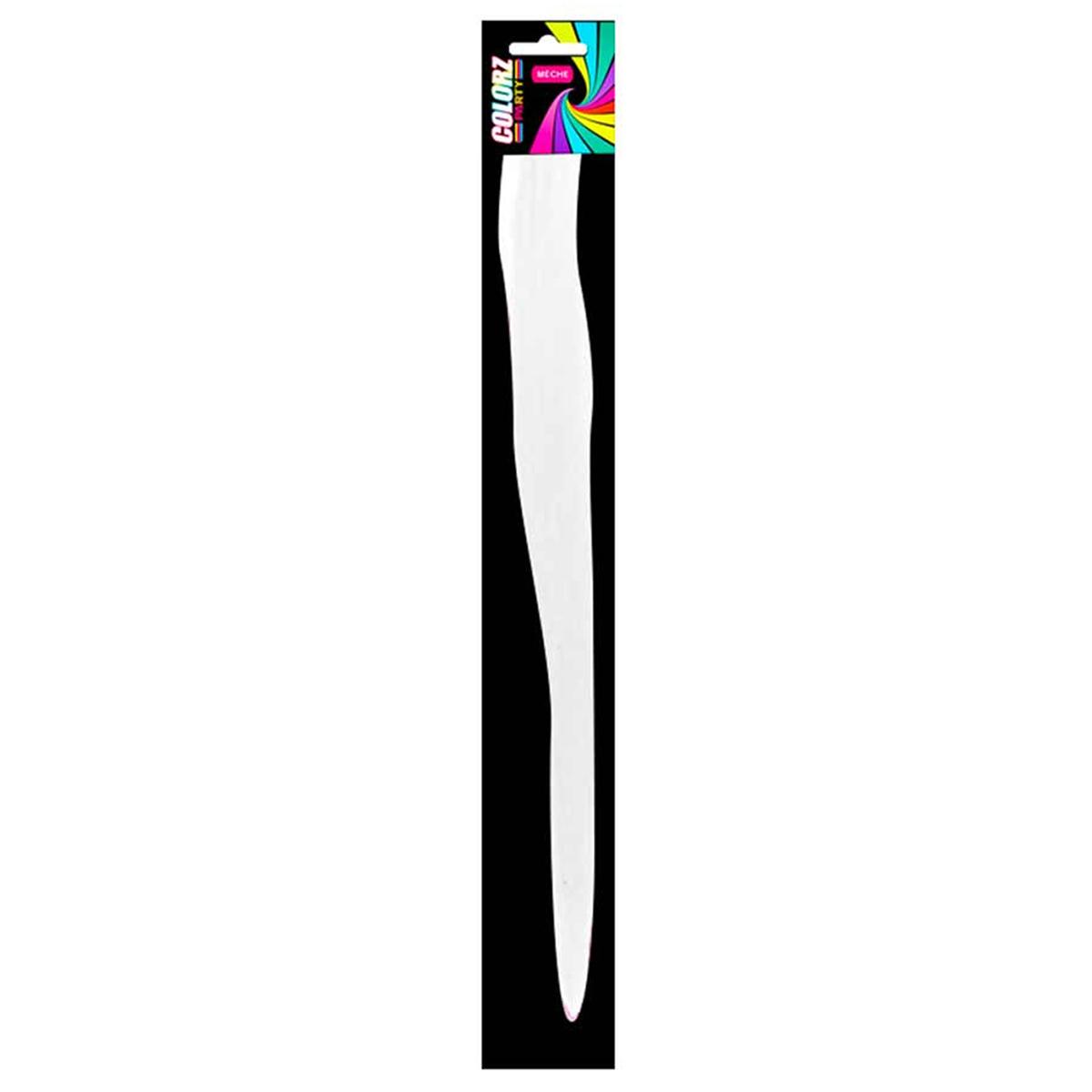 Mèche \'Coloriage\' blanc (faux cheveux) - 40 cm - [R2723]