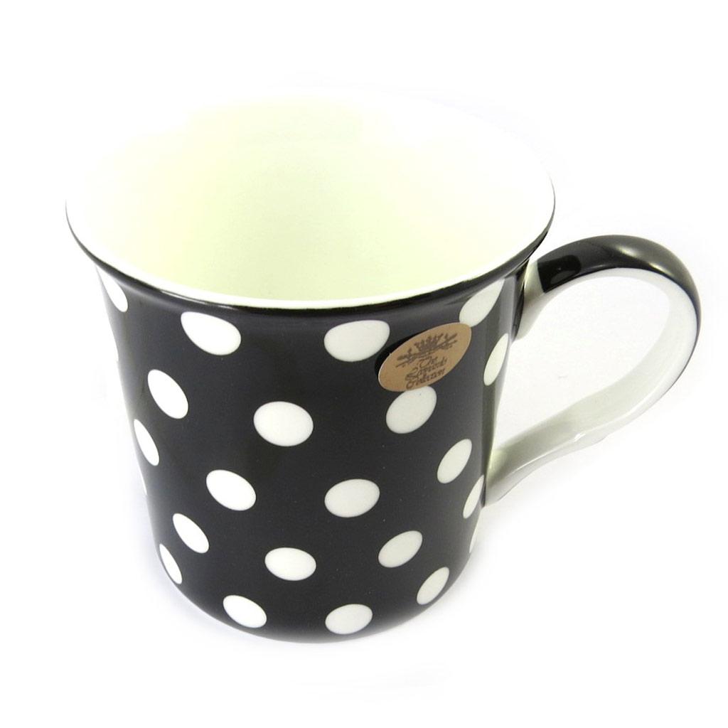 Mug \'Petits Pois\' noir blanc - [M6450]
