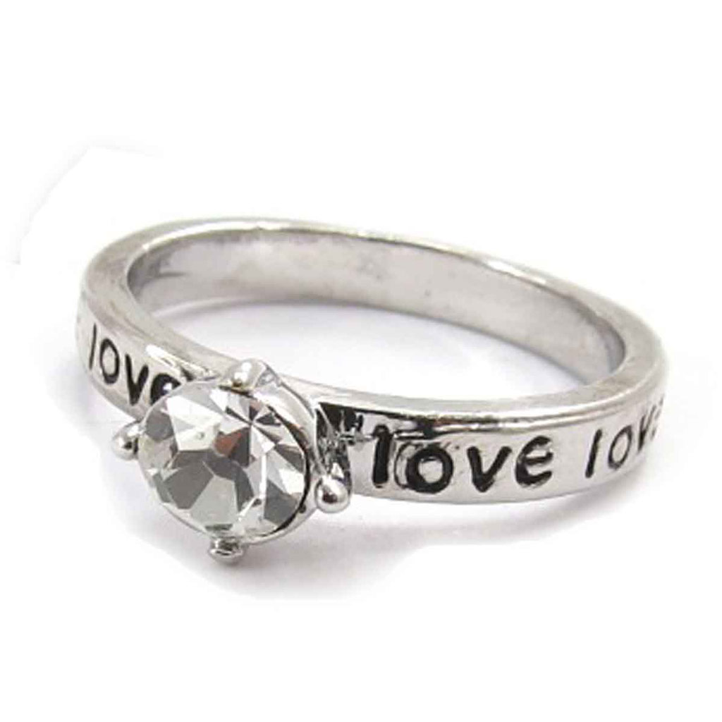 Bague \'Love\' argenté - [J8052]