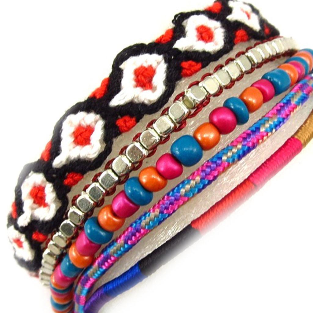 Bracelet Créateur \'Katmandou\' tutti frutti - [K6542]