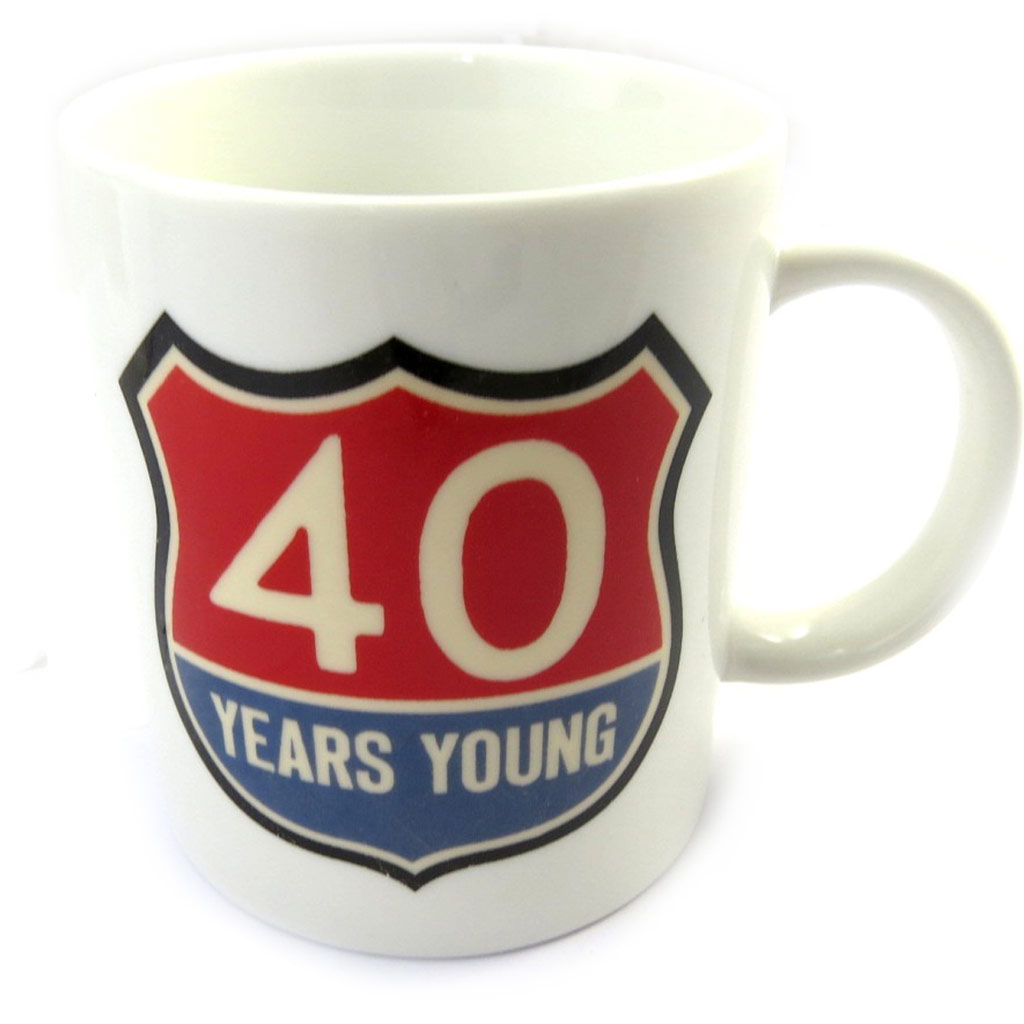 Mug anniversaire \'40 ans\' vintage - [M6754]