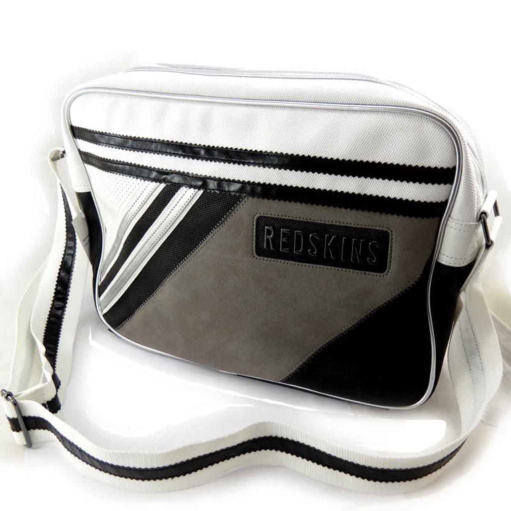 Besace \'Redskins\' noir blanc - [J8441]