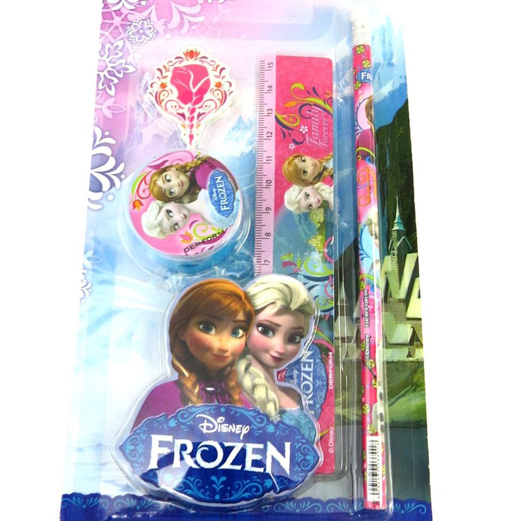 Set papeterie \'Frozen - Reine des Neiges\' rose (4 pièces) - [M6833]