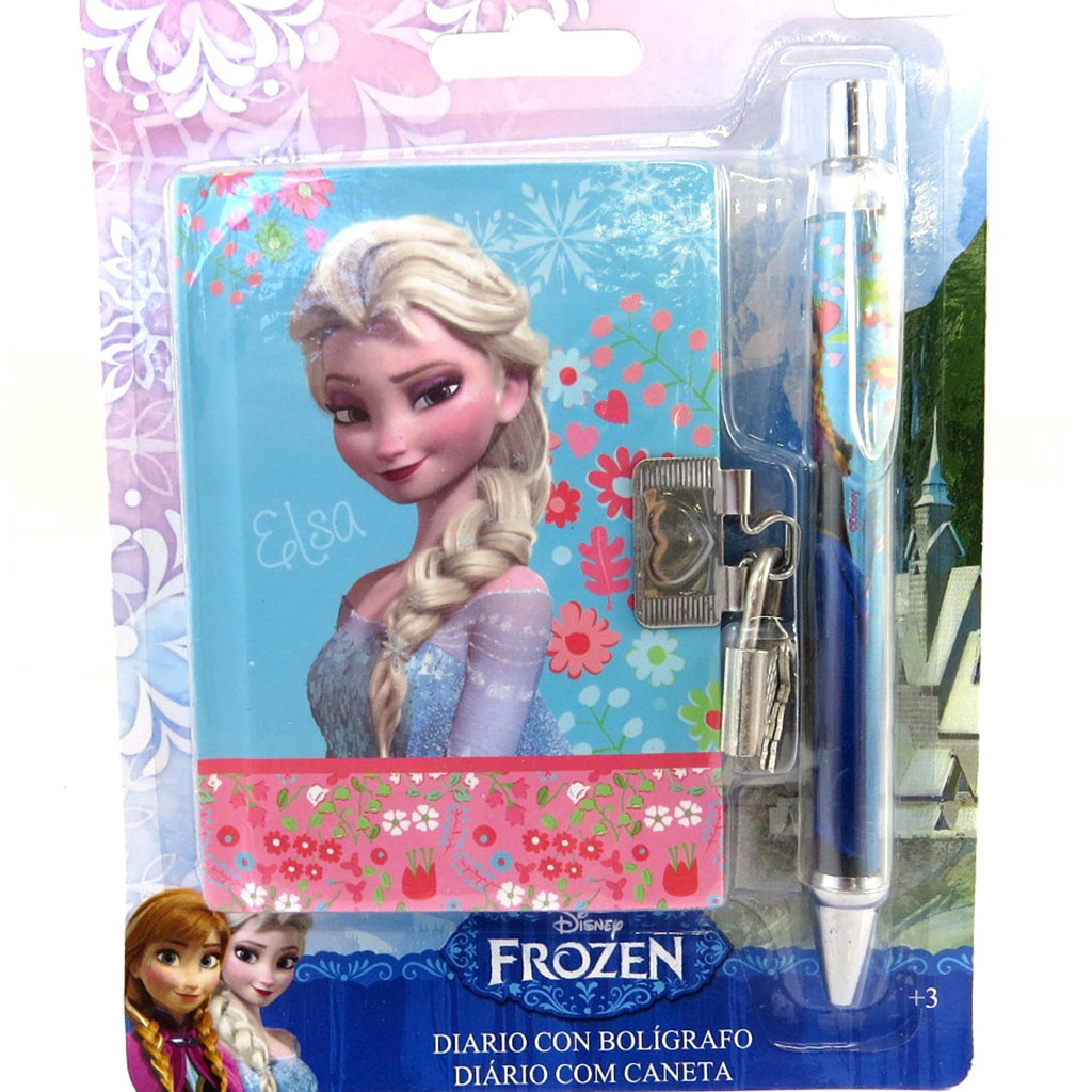 Set journal Intime \'Frozen - Reine des Neiges\' bleu (+ stylo assorti) - [M6846]