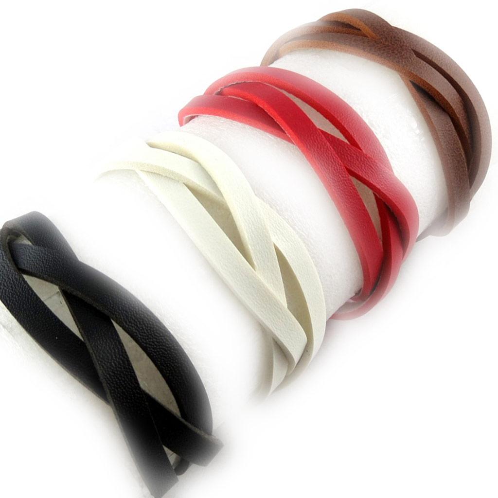 4 bracelets cuir \'Authentik\' tutti frutti - [K6950]