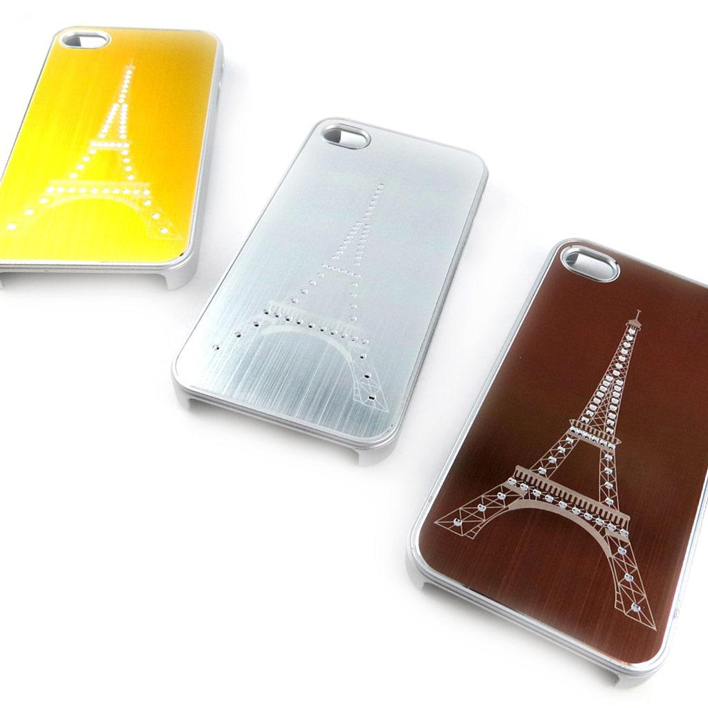 3 coques créateur \'Tour Eiffel\' Iphone 4 4S (doré argenté marron) - [K7492]