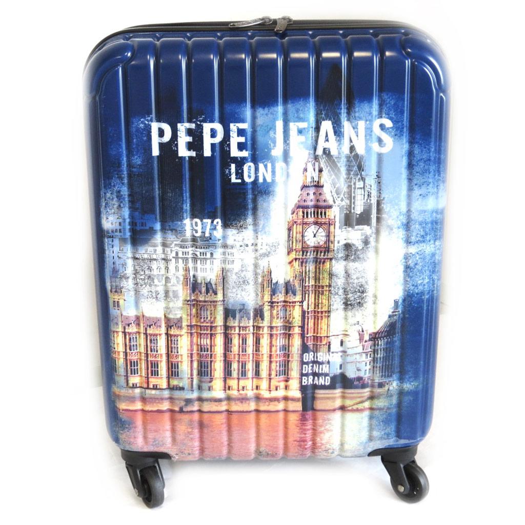 Valise ABS \'Pepe Jeans\' marine (London) 55 cm - [M7432]