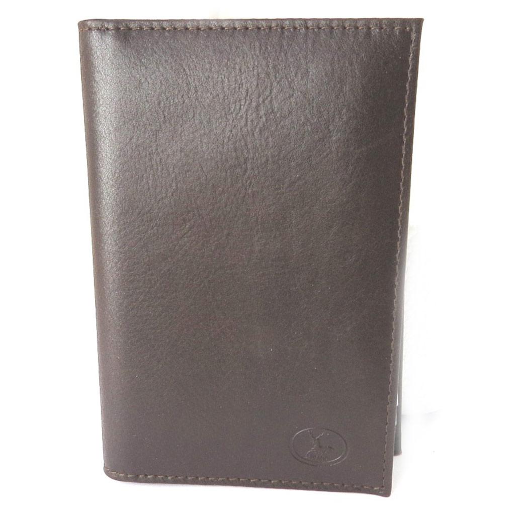 Porte Papiers de voiture Cuir \'Frandi\' marron vieilli (ultra plat) - [M7507]