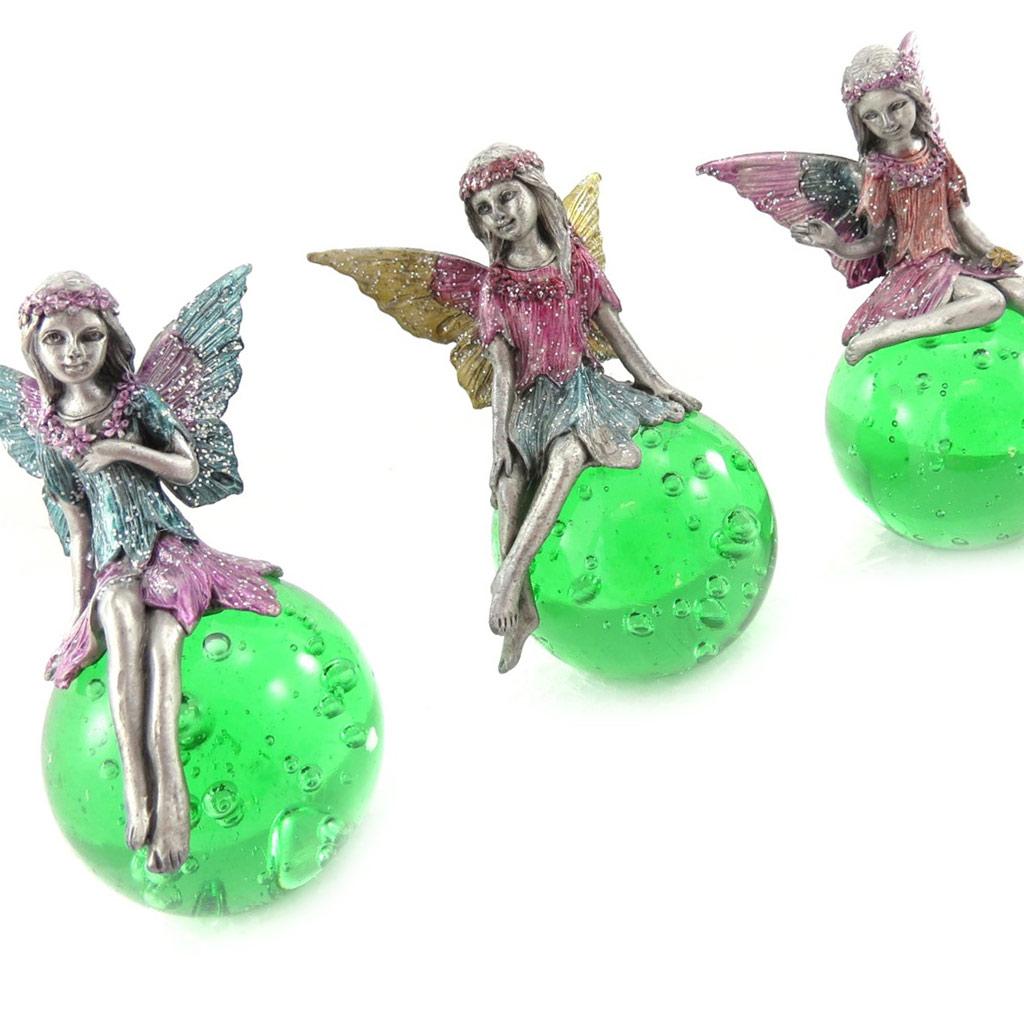 Ensemble 3 figurines \'Fairy Dreams\' vert - [J9926]