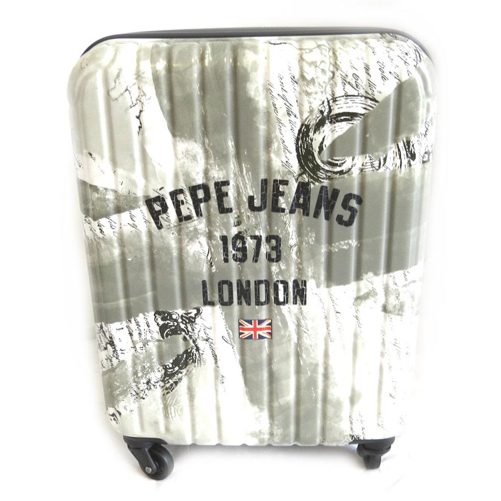 Valise ABS \'Pepe Jeans\' gris - Union Jack (London) 55 cm - [M7849]
