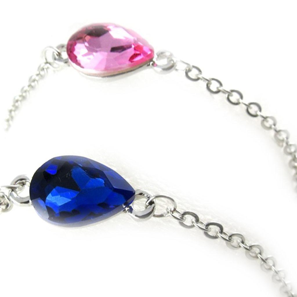 2 bracelets \'Scarlett\' saphir rose - [K8040]