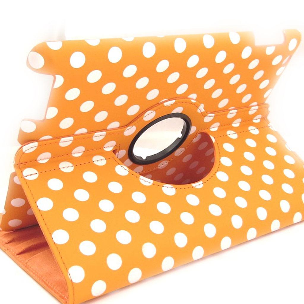Coque Ipad \'Petits Pois\' orange (97\') - [K8183]