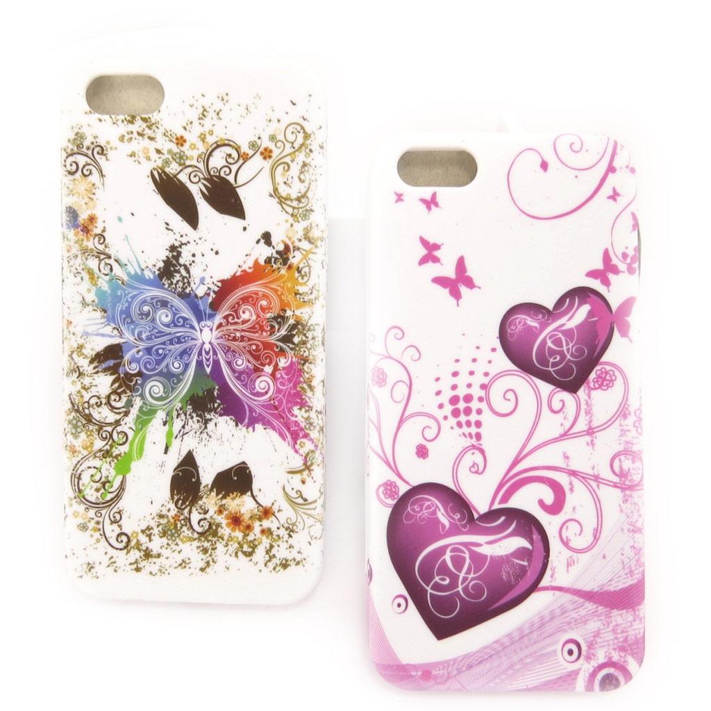 2 coques créateur \'Floralies\' Iphone 5G - [K8345]