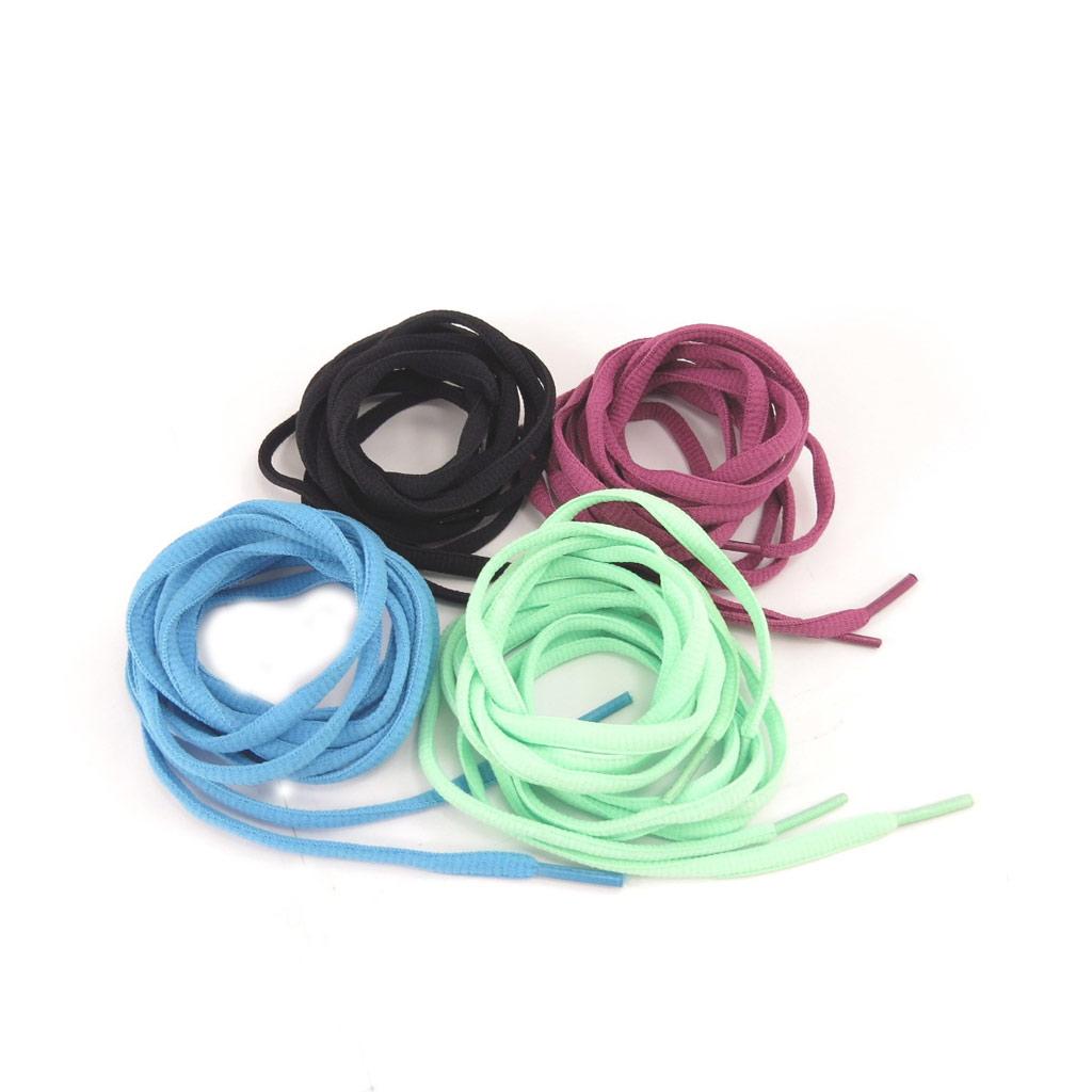 4 paires de lacets \'Coloriage\' bleu vert bordeaux noir - [K8377]