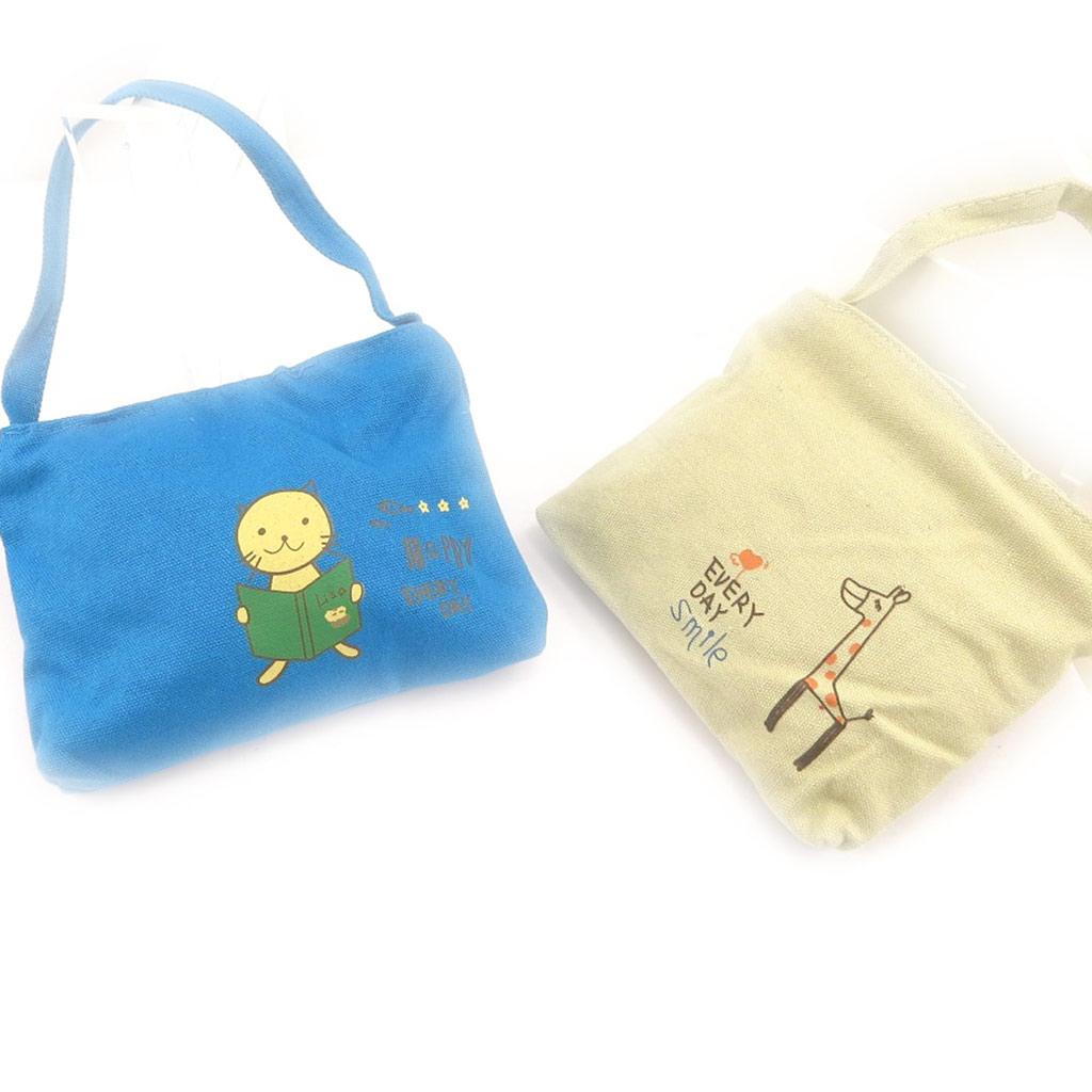 2 sacs enfant \'Petit Lily\' beige bleu - [K8404]