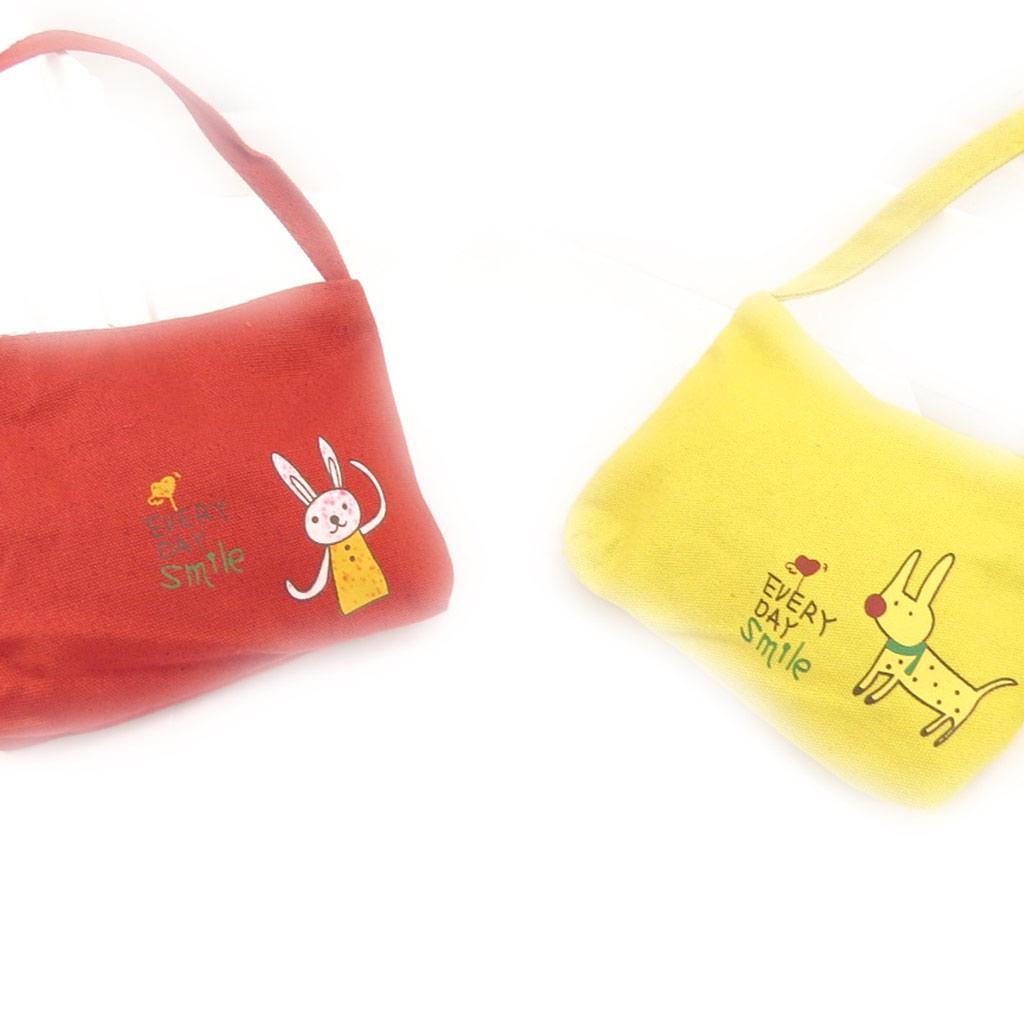 2 sacs enfant \'Petit Lily\' rouge jaune - [K8407]
