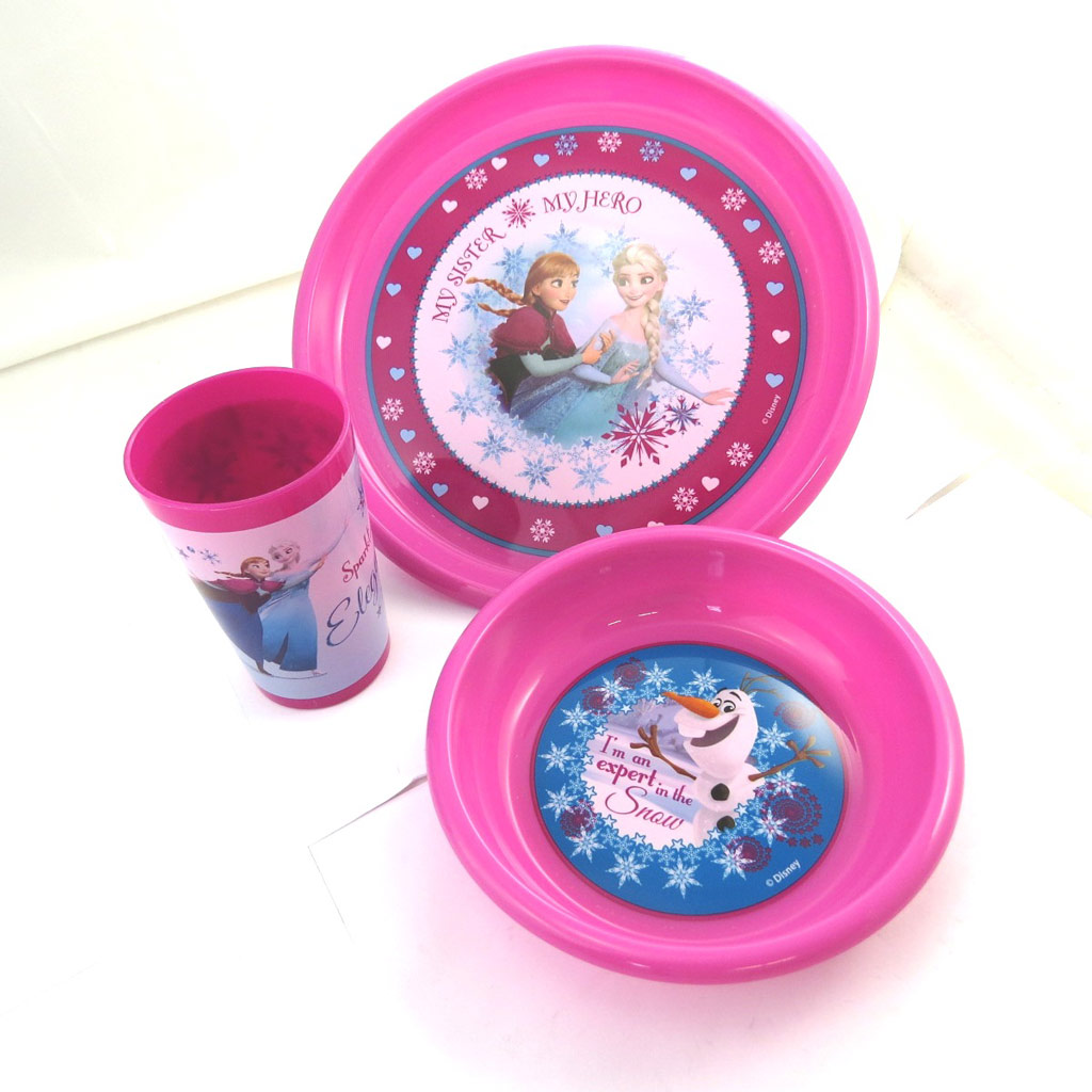 Coffret repas \'Frozen - Reine des Neiges\' rose - [M8266]