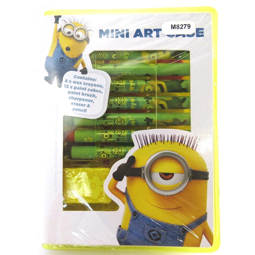 Set papeterie , set artistique \'Minions\' bleu jaune (24 pièces) - [M8279]