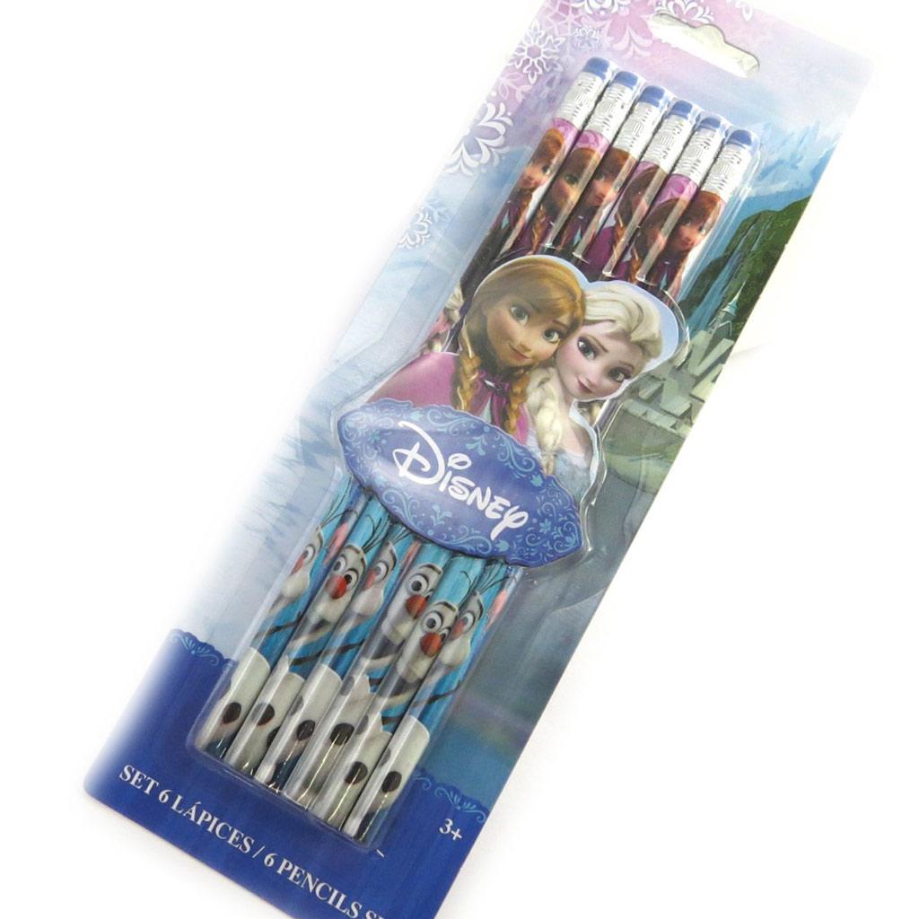 6 crayons à papier \'Frozen - Reine des Neiges\' multicolore - [M8318]