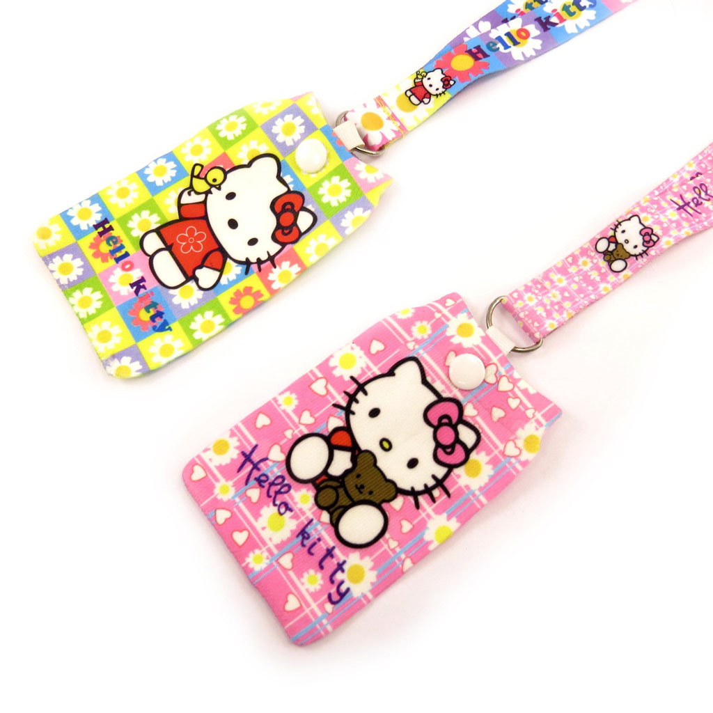 2 cordons + chaussettes téléphone \'Hello Kitty\' jaune rose - [K8573]