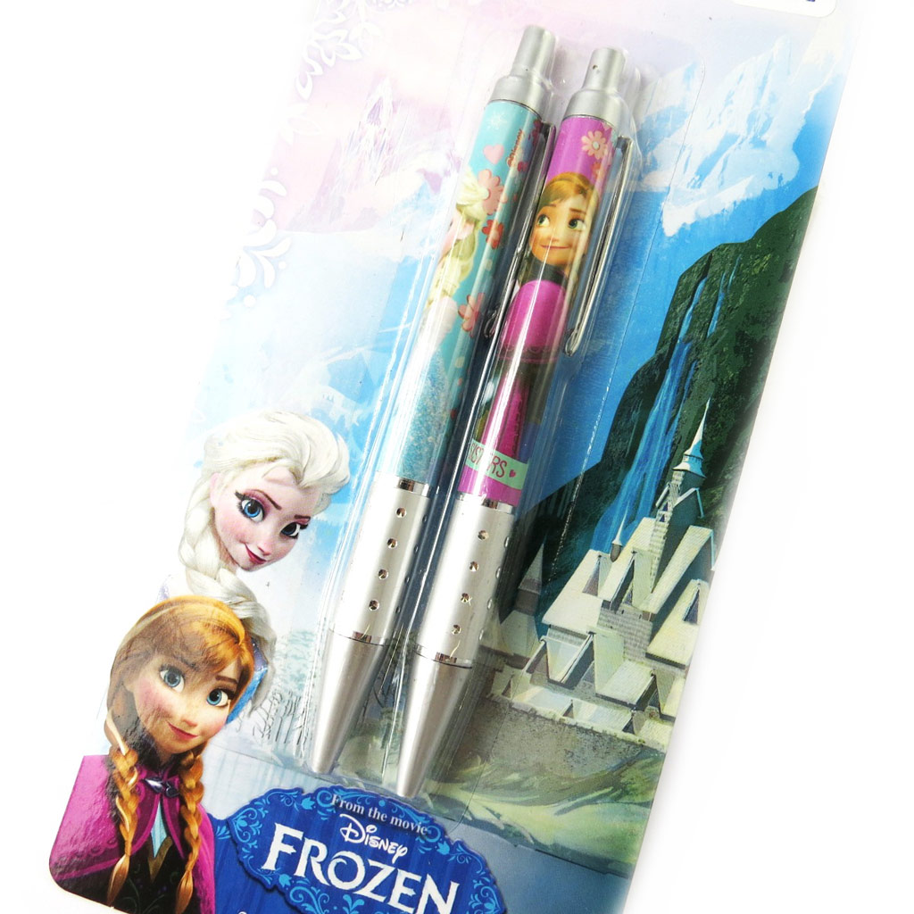 2 stylos \'Frozen - Reine des Neiges\' bleu rose - [M8382]