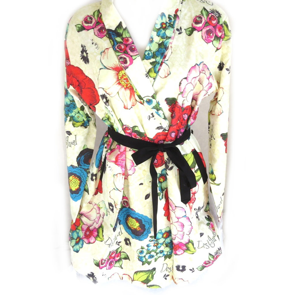 Kimono créateur \'Desigual\' beige multicolore - [M8508]