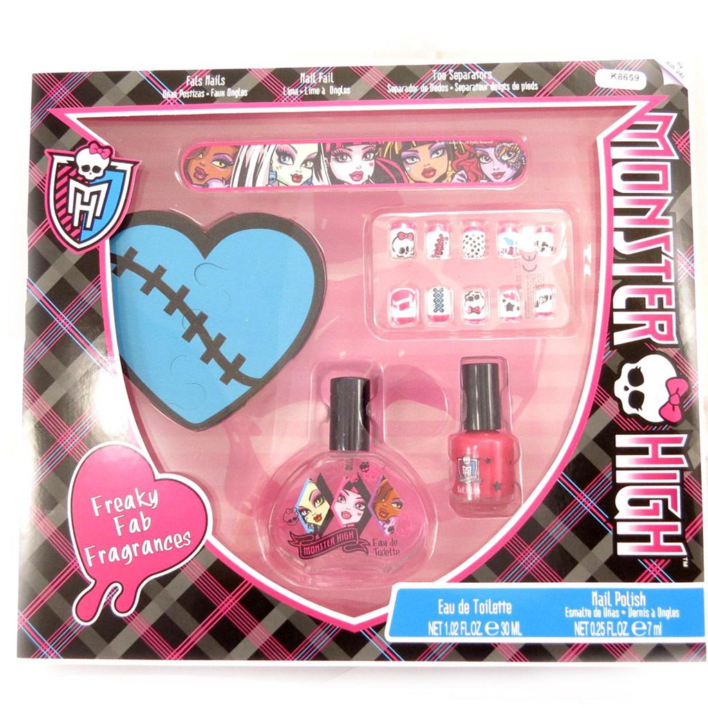 Coffret manucure \'Monster High\' noir rose - [K8659]
