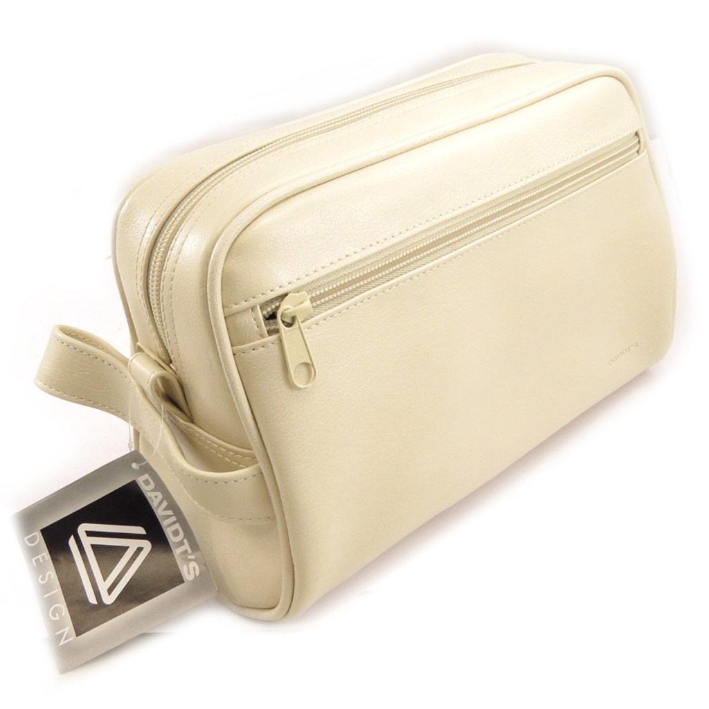 Trousse de toilette \'Indispensable\' beige ivoire - [K8753]