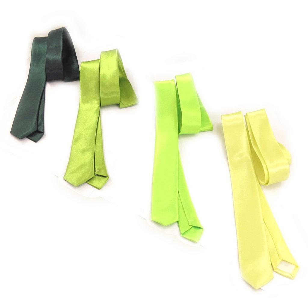 4 cravates \'Coloriage\' camaïeu vert - [K8855]