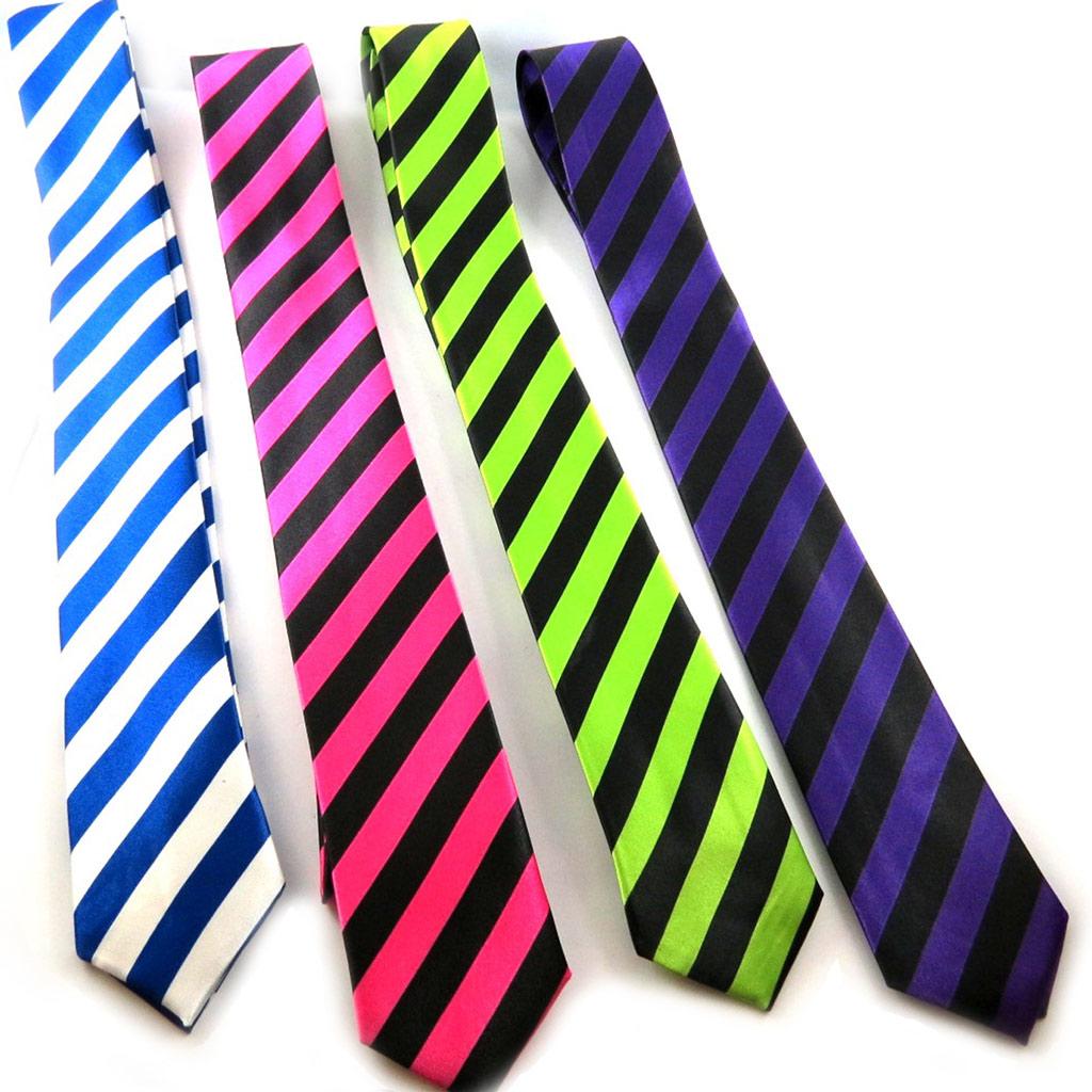 4 cravates \'Coloriage\' tutti frutti - [K8877]