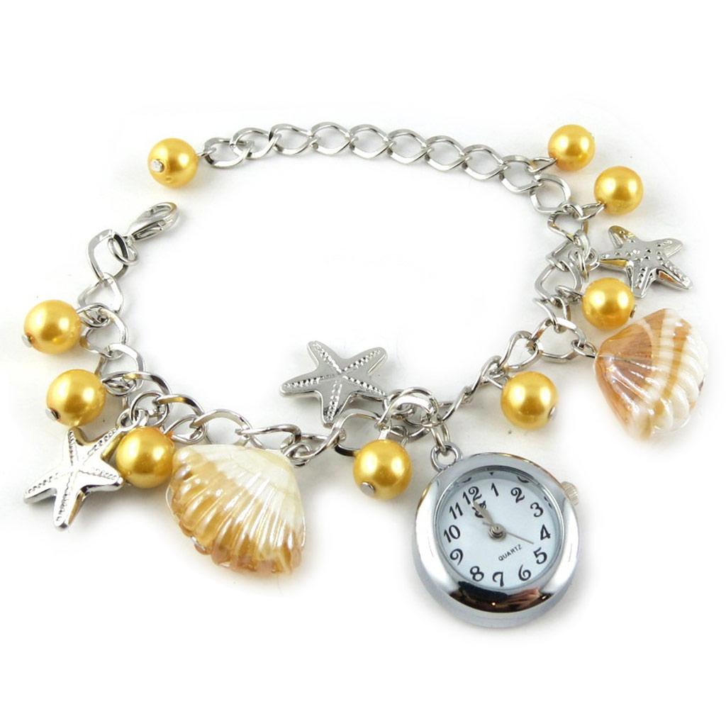 Montre bracelet \'Scarlett\' jaune - [K8917]